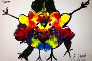 K Rorschach Print - a giant chicken