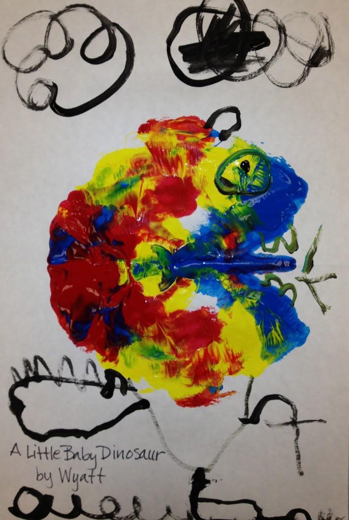 K Rorschach Print - a little baby dinosaur