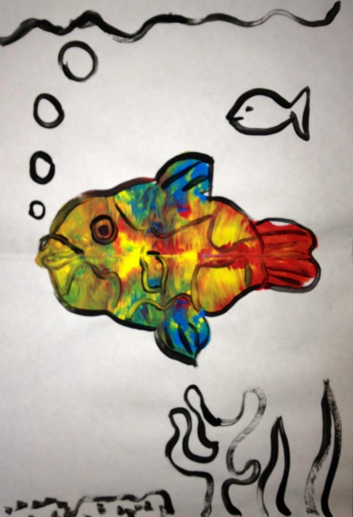 K Rorschach Print - a fish