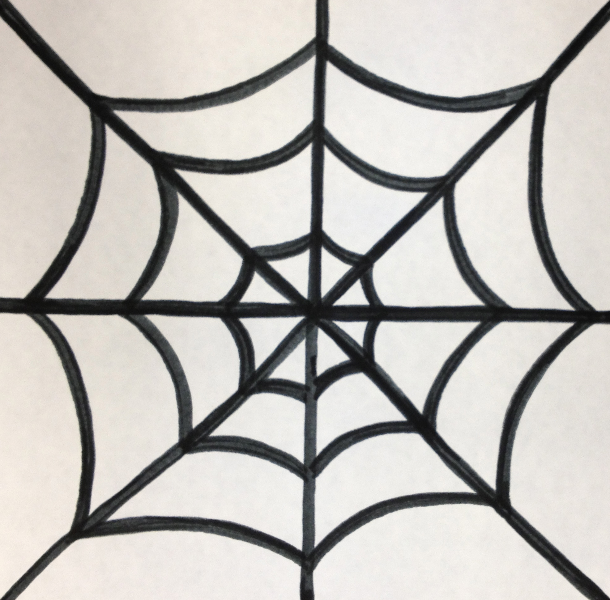 Spider in web drawing - photo#23