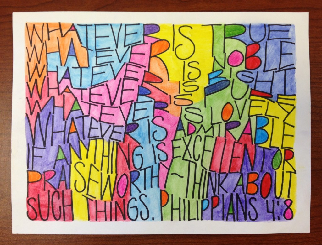 Colorful Dense Text Lettering