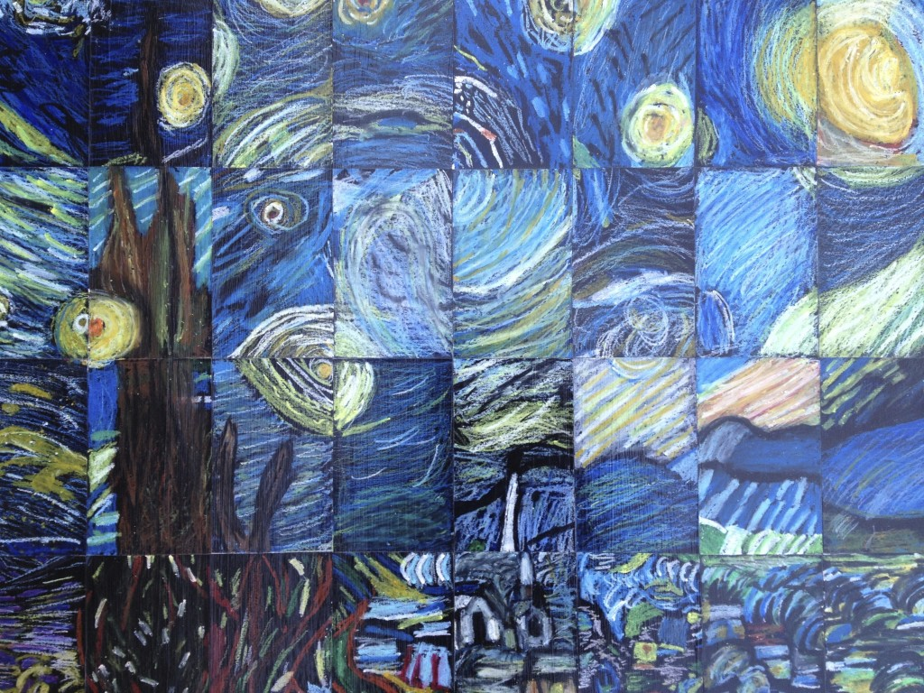 "5th Grade/Middle School Masterpiece Mosaic of ""Starry Night"" by Vincent Van Gogh"