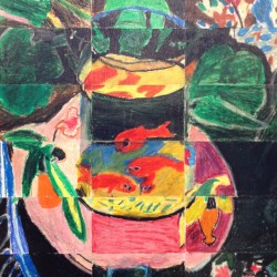 "4th Grade Masterpiece Mosaic of ""Goldfish"" by Henri Matisse"
