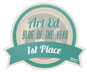 AOE-Art Ed Blog of the Year 2012 badge