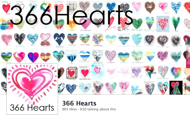 366 Hearts on Facebook