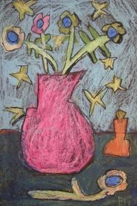 Oil Pastel Still Life Inspired by Van Gogh