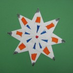 Folded Paper Star Decoration with Symmetry
