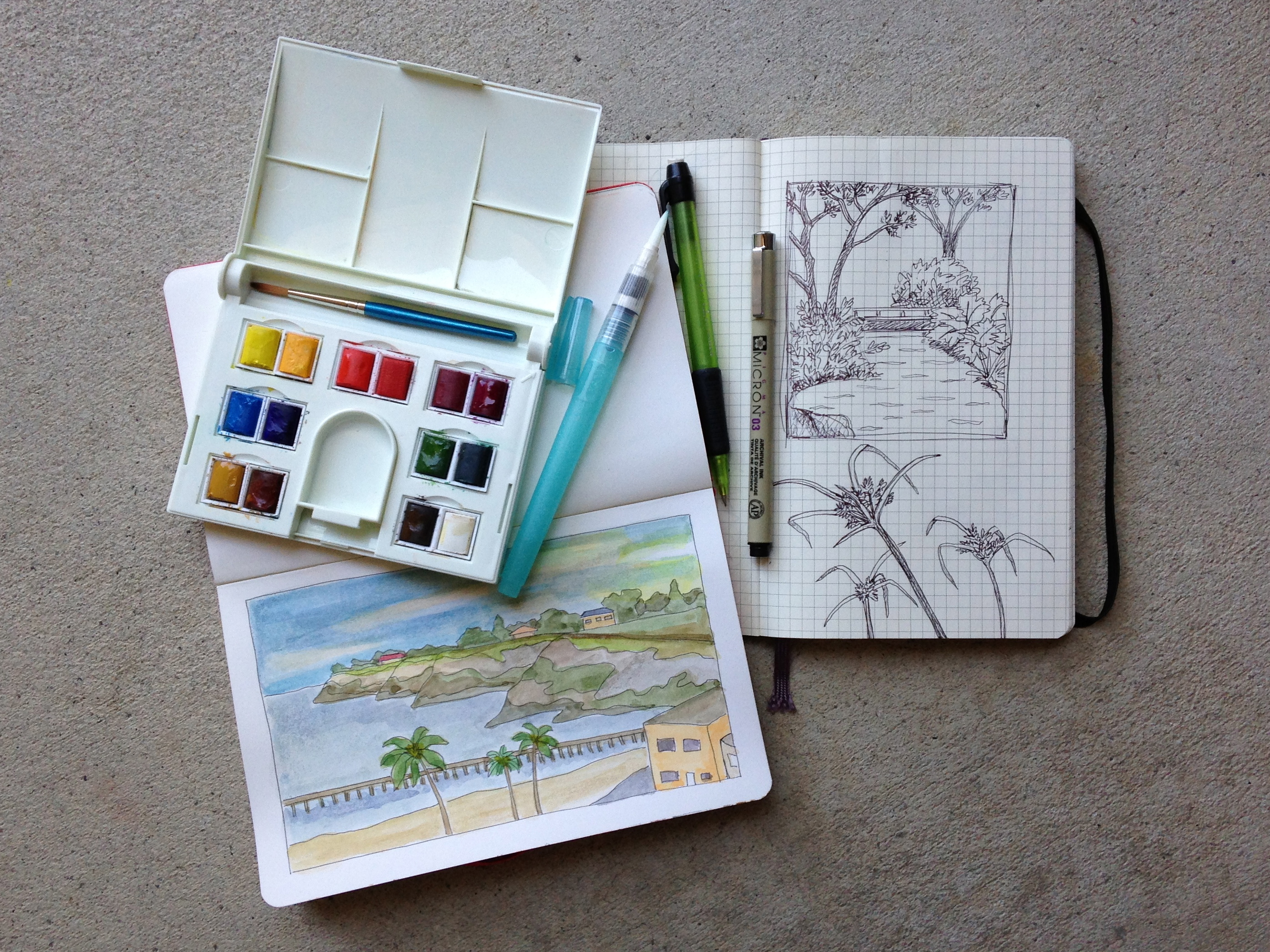 Sketch Books & Paint Set