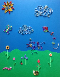 Imaginary Landscape with Quilling