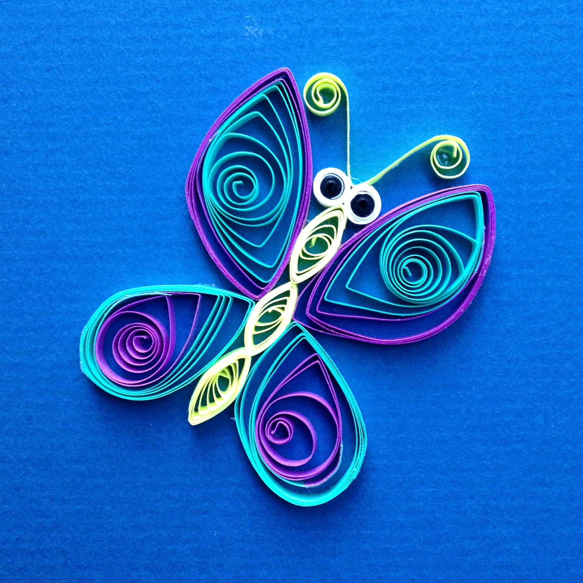 Simple quilling butterfly images for Quilling how to