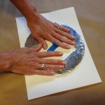 Press foam circle onto paper