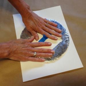 Press foam circle onto paper