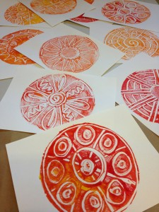 Monoprint Dots - Bet you can't make just one!