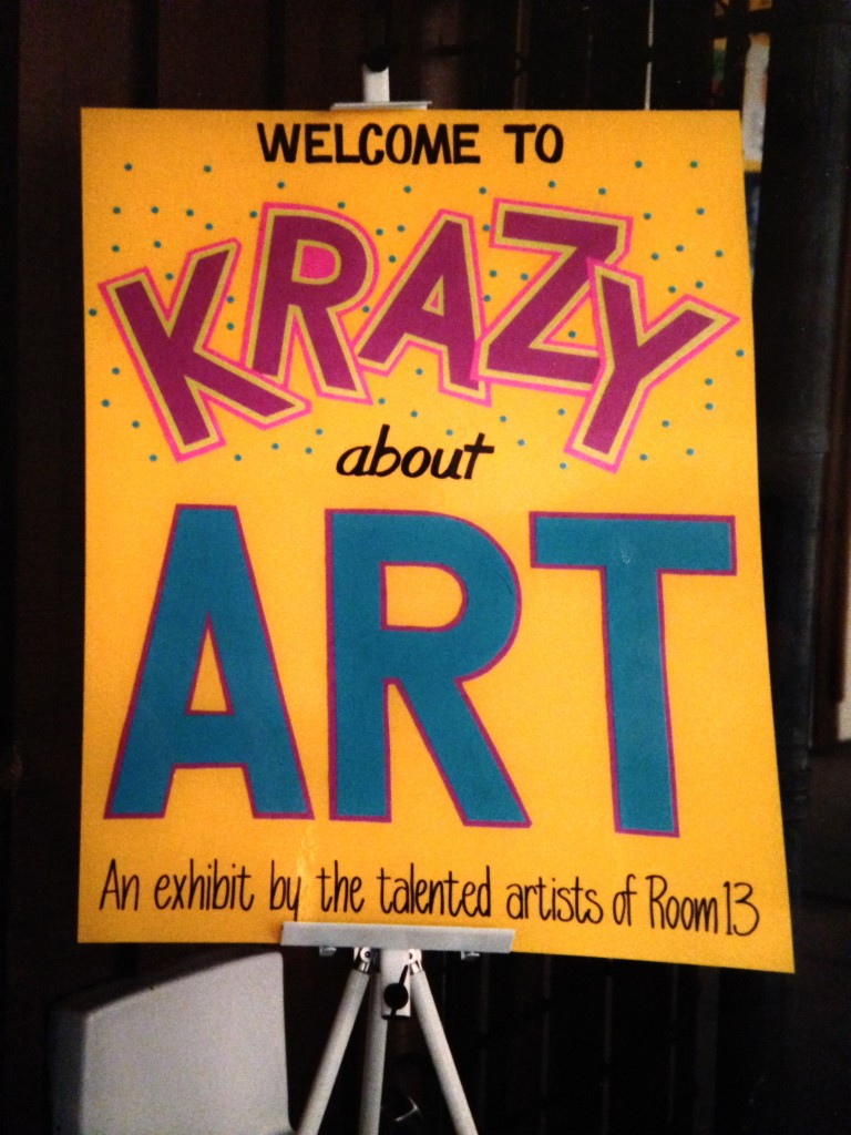 Art Show poster by parent volunteer