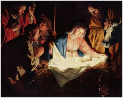 Nativity Painting by Gerard Van Honthorst, 1622