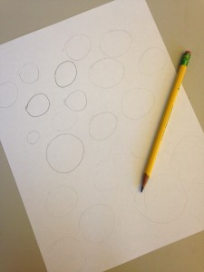 Drawing circles with a light touch