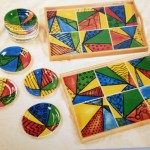 Ceramic Tile Serving Trays with Bowls auction project