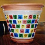 Large Ceramic Tile Pot auction project