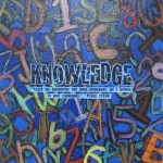 """""""Knowledge"""" auction project collage on Canvas"""