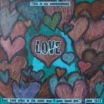 """Love"" auction project collageon Canvas"