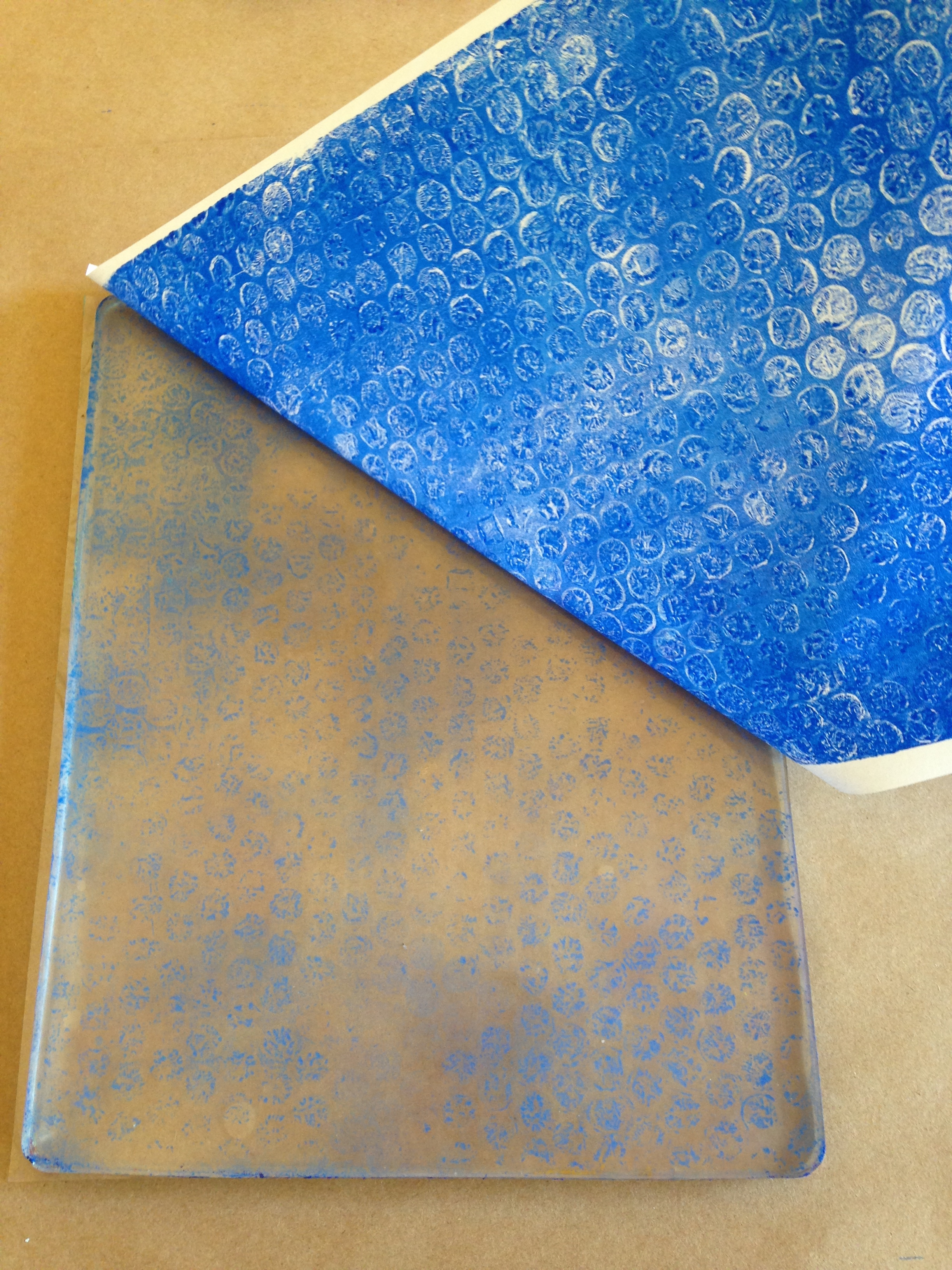 Steps for making a Gelli print