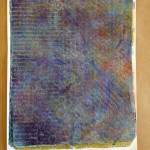 Monoprint made with a Gelli plate