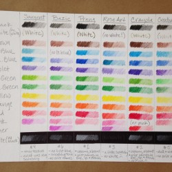 Student Grade Colored Pencil Comparison Test