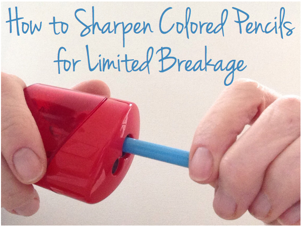 How to Sharpen Colored Pencils for Limited Breakage