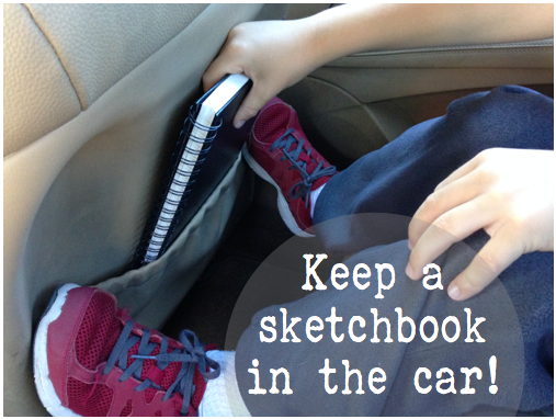 Keep a sketchbook in the car