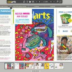 Sign up to receive an email when the next digital issue of School Arts magazine is available... it's FREE!