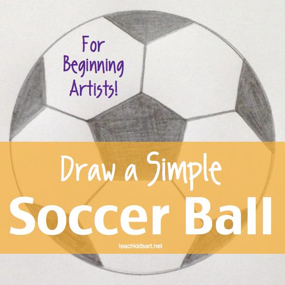 Art with Math - Draw a Simple Soccer Ball • TeachKidsArt