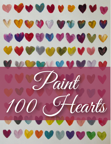 Paint 100 Hearts - Valentine Color Mixing