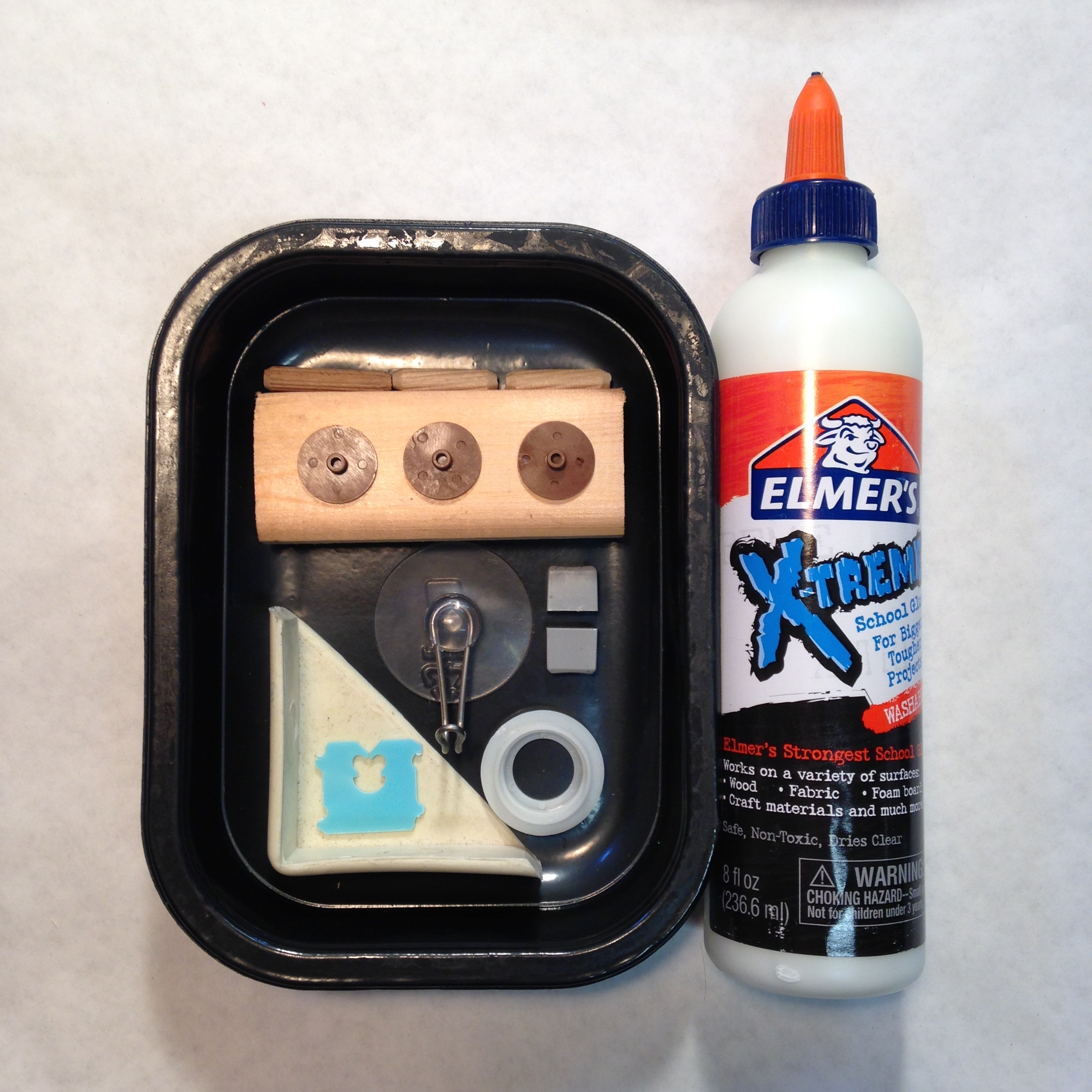 Elmer's X-TREME School Glue works on a variety of surfaces