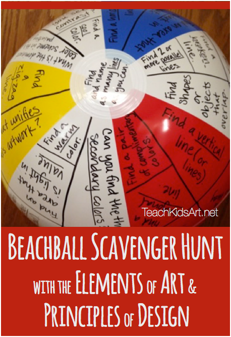 Beachball Scavenger Hunt with the Elements of Art & Principles of Design