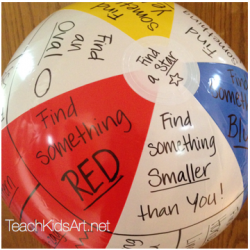 "Beachball designed for ""Elements of Art Scavenger Hunt"" for Grades 1 & 2"
