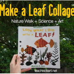 Make a Leaf Collage inspired by 'Look What I Did with a Leaf' by Morteza E. Sohi