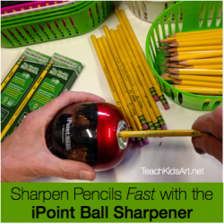 Sharpen Pencils Fast with the iPoint Ball Sharpener