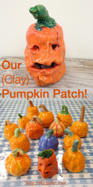Our (Clay) Pumpkin Patch!