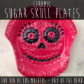 Ceramic Sugar Skull Plates for Dia de los Muertos