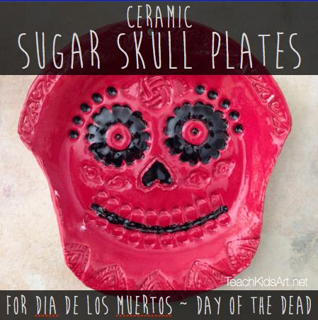 Ceramic Sugar Skull Plates for Dia de los Muertos