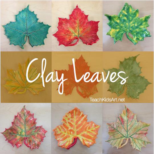 Clay Leaves ~ Teach Kids Art