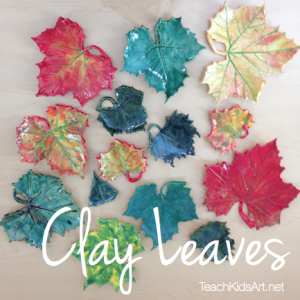 Colorful Clay Leaves
