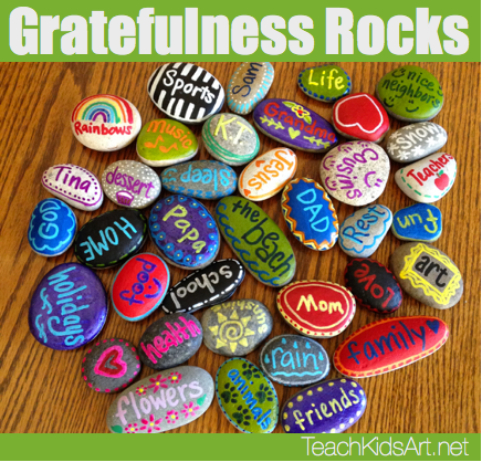 Gratefulness Rocks by Teach Kids Art