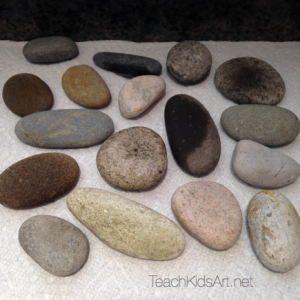 Gratefulness Rocks Step 2. Rinse rocks well and set aside to dry.