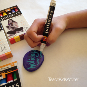 Gratefulness Rocks Step 3. Use Elmer's 'Painters' Opaque Paint Markers to decorate your rocks!