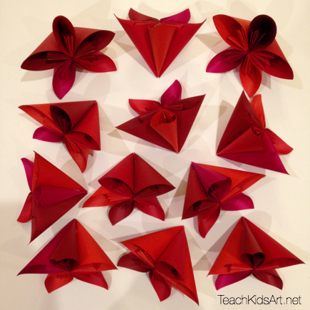 Origami flower balls teachkidsart origami flower balls step 4 repeat steps 2 3 to make 12 flowers mightylinksfo Gallery