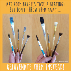 Serious Care for Your Art Room Brushes