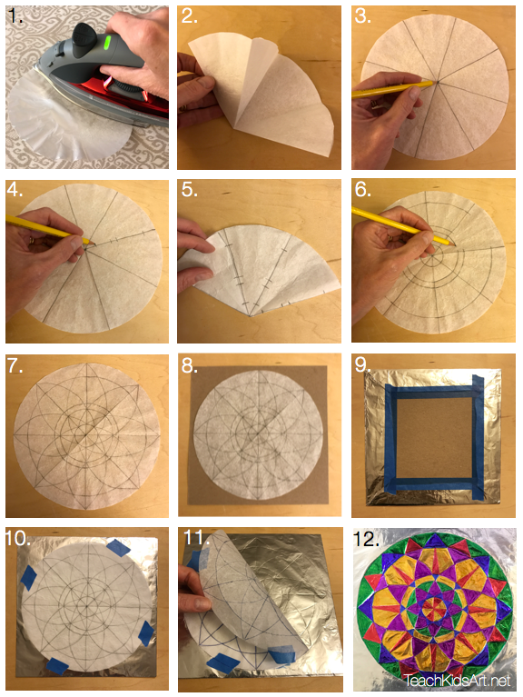 "Steps for making a ""No Measure Mandala"""