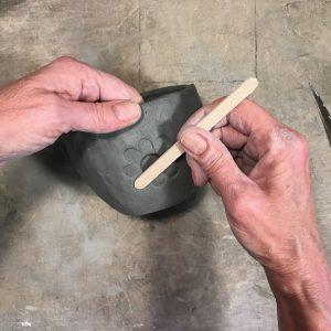 Steps for Easy Sugar Skull Ceramic Planter for Dia de los Muertos / Day of the Dead