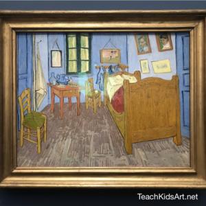 """""""La Chambre de Van Gogh à Arles"""", painted in 1889"""